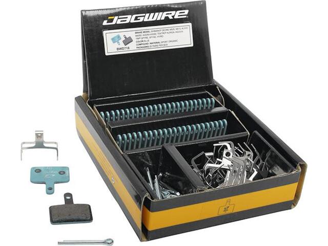 Jagwire Sport Organic Disc Brake Pads LX/Deore/Alivio/Acera/Nexave/Tourney/Non-Series 25 Pairs, blue